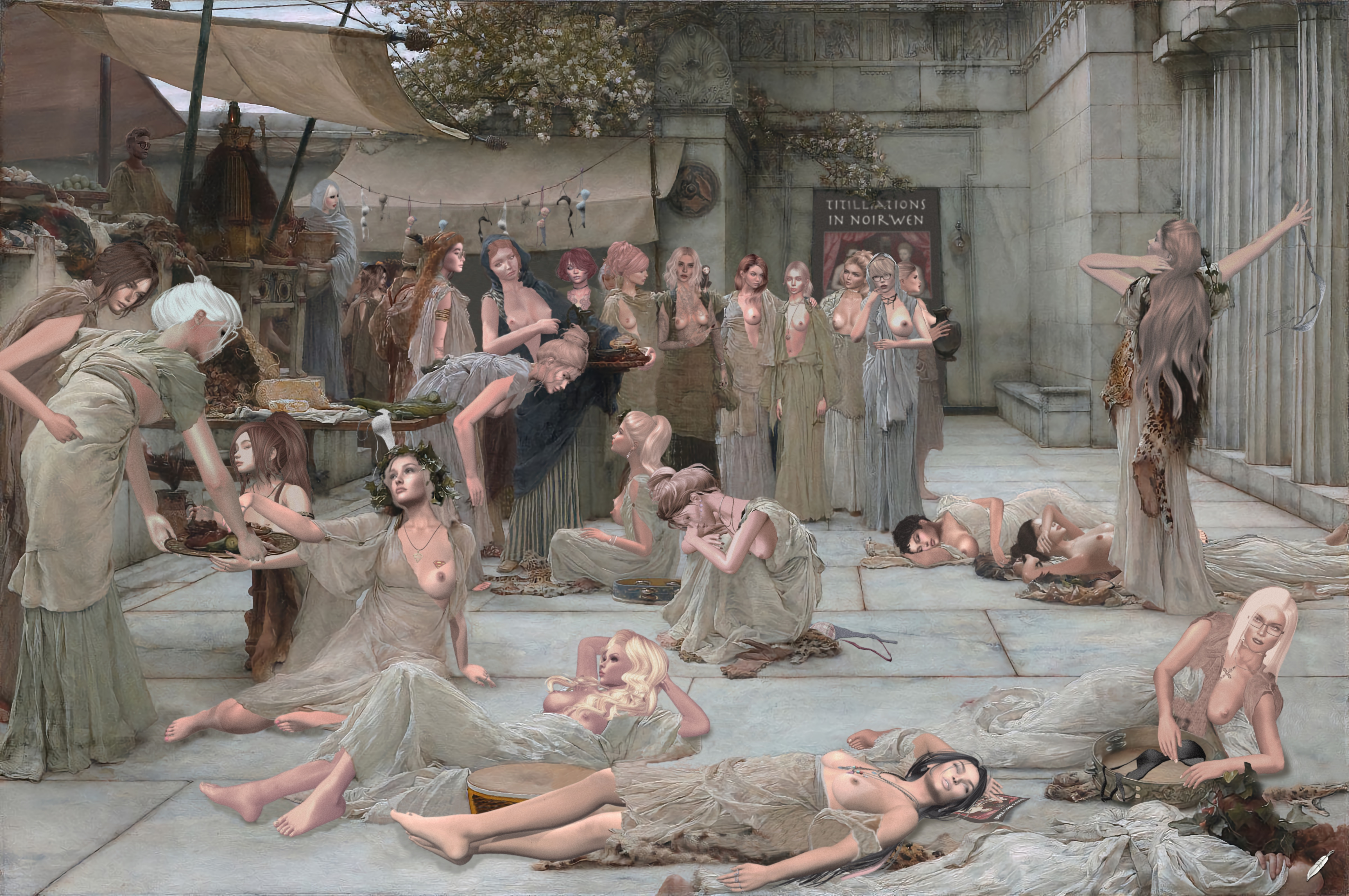 Women of Amphissa   Lawrence Alma Tadema